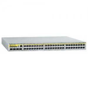 Коммутатор Allied Telesis MultiIayer IPv4 and IPv6 switch with 48 x 10/100BASE-T copper ports and 4 x 1000BASE-X SFP uplinks. AC PSU with power cord + NCB1