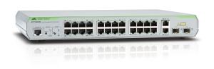 Коммутатор Allied Telesis 24 Port Managed Standalone Fast Ethernet Switch, 2 Combo SFP uplink port. Single AC Power Supply