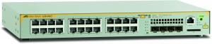 Коммутатор Allied Telesis L2+ managed switch, 24 x 10/100/1000Mbps, 4 x SFP uplink slots, 1 Fixed AC power supply EU Power Cord
