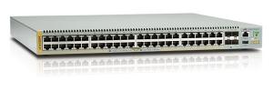 Коммутатор Allied Telesis Stackable Gigabit Edge Switch with 48 x 10/100/1000T POE+, 4 x 10G SFP+ ports +NCB1