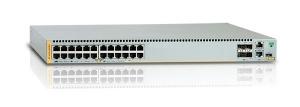 Коммутатор Allied Telesis 24 x 10/100/1000BASE-TX POE+ ports, 2 x SFP+ ports, 2 x SFP+/Stack ports, 1 x Expansion module