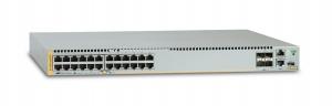 Коммутатор Allied Telesis 24 x 10/100/1000BASE-TX ports, 2 x SFP+ ports, 2 x SFP+/Stack ports, 1 x Expansion module