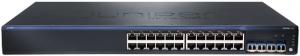Коммутатор Juniper Networks EX2200, 24-port 10/100/1000BaseT (POE) + 4Gbe Uplink ports
