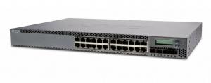 Коммутатор Juniper Networks EX3300 TAA, 24-Port 10/100/1000BaseT (24-Ports PoE+) with 4 SFP+ 1/10G Uplink Ports (Optics not included)