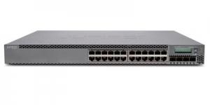 Коммутатор Juniper Networks EX3300, 24-Port 10/100/1000BaseT with 4 SFP+ 1/10G Uplink Ports (Optics Not Included)
