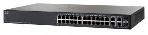 Коммутатор Cisco Systems SG300-28PP 28-port Gigabit PoE+ Managed Switch