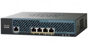 Контроллер беспроводных точек доступа Cisco 2504 Wireless Controller with 5 AP Licenses