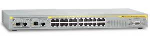 Коммутатор Allied Telesis Layer 3 switch with 24-10/100TX ports plus 2 10/100/1000T / SFP Uplinks + NCB1