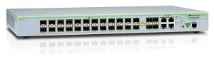 Коммутатор Allied Telesis Layer 2 Switch with 24-SFP fiber (unpopulated) ports plus  4 active 10/100/1000T / SFP Combo ports (unpopulated). ECO SWITCH. Extended Temp