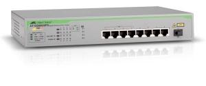 Коммутатор Allied Telesis Unmanaged Gigabit POE+ Switch with 8 x 10/100/1000T ports and 1 x 1G SFP uplink