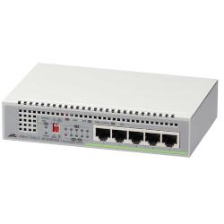 Коммутатор Allied Telesis 5 port 10/100/1000TX unmanaged switch with external power supply EU Power Adapter
