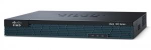 Cisco 1921 with 2 onboard GE, 2 EHWIC slots, 256MB USB Flash (internal) 512MB DRAM, SEC Feature Lic