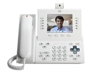 Телефонный аппарат Cisco UC Phone 9951, A White, Std Hndst with Camera