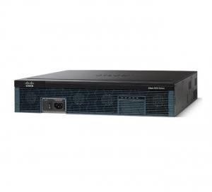 Cisco 2951 with 3 onboard GE, 4 EHWIC slots, 3 DSP slots, 1 ISM slot, 256MB CF default, 512MB DRAM default, IP Base