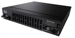 ISR 4451 with 4 onboard GE, 3 NIM slots, 1 ISC slot, 2 SM slots, 8 GB Flash Memory default, 2 GB DRAM default (data plane), 4 GB DRAM default (control plane)