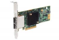Низкопрофильный HBA-адаптер, восемь внешних портов SATA и SAS, 6 Гбит/с, PCIe 3.0