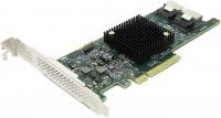 низкопрофильный HBA-адаптер, восемь портов SATA+SAS, 6 Гбит/с, поддержка шины PCIe 3.0 и базовый RAID