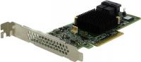 Интерфейсы: 8x SAS 12Gb/s или SATA 6Gb/s , Внутренние: 2x SFF-8643 , RAID-Level: 0/1/5/10/50 , Набор микросхем:  SAS 3008, 1.20GHz , Специальные: низкий профиль , Комплектация без кабеля
