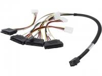 Внутренний кабель SFF-8643 - 4x SFF-8482, 0.6 м / 00412 / CBL-SFF8643-SAS8482SB-06M