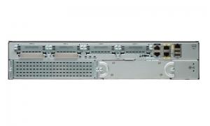 Cisco 2921 with 3 onboard GE, 4 EHWIC slots, 3 DSP slots, 1 ISM slot, 256MB CF default, 512MB DRAM default, IP Base
