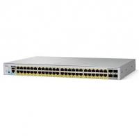 Коммутатор Cisco Catalyst 2960L 48 port GigE with PoE, 4 x 1G SFP, LAN Lite